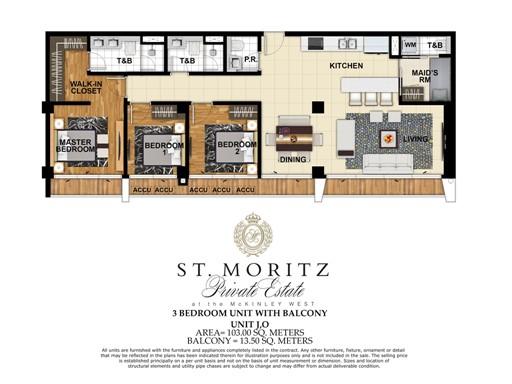 116.5 Square-Meter Three-Bedroom Unit